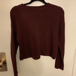 Cropped forever 21 sweater